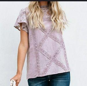 Adorable Lilac Purple Lace Top